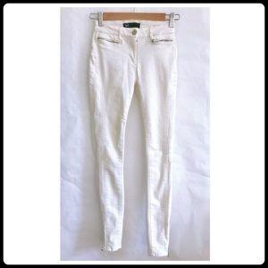 3x1 W2 white skinny jeans with ankle zipper